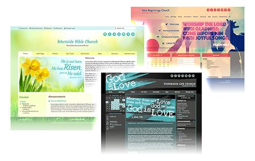 MyChurchWebsite.net Church Website Collage